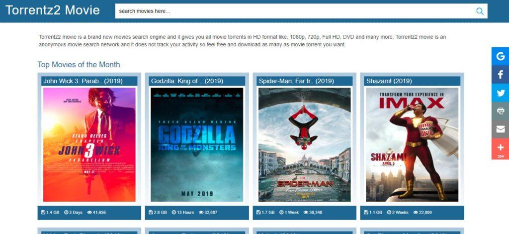Torrentz2 Movie Search Engine